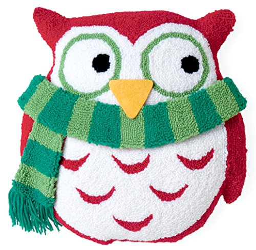 Boston International Owl 3D Hooked Pillow, 13.5-Inch Length by 14-Inch - Owl International