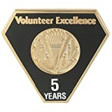 VolunteerGift's 5 Year Milestone Lapel Pin for Volunteers