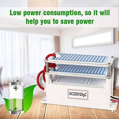 Wensa 20G H generatore dellozono con Time Interruttore Professionale sterilizzatore Cleaner Commercial Air Purifier Comfort in Acciaio Inox Ozonizzatore Deodorante e sterilizzatore