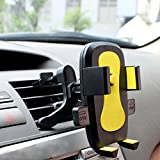 dash board notepad - Universal Air VentPhone Car,iBarbe Smartphone Car Air Vent Mount Holder Cradle Compatible with iPhone X 8 8 Plus 7 7 Plus SE 6s 6 Plus 6 5s 5 4s 4 Samsung Galaxy S6 S5 S4 LG Nokia and More-yellow