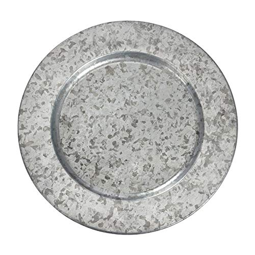 Galvanized Tin Plate Chargers - Set of 4