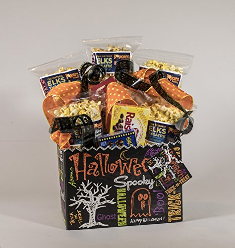 Halloween Chalkboard Gourmet and Theater Popcorn Gift Basket ()