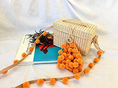 Hydrangea Weave GAOQQ Petit Orange De Oblique Red Sac Holiday Pucao Fête De Pendentif Bandoulière Sac Plage WYaq5raR