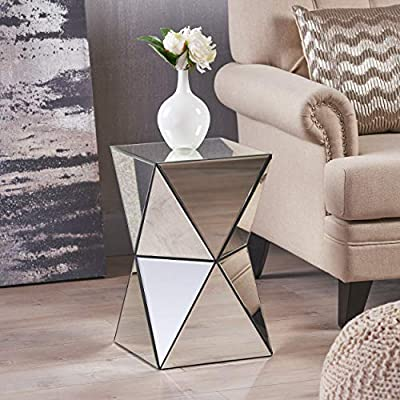 Phenomenal Christopher Knight Home Aedon Mirrored Side Table Andrewgaddart Wooden Chair Designs For Living Room Andrewgaddartcom