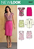New Look Sewing Pattern 6107: Misses' Tops and Skirts, Size A(8-10-12-14-16-18)