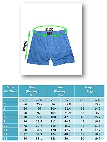 Herren Boxer Shorts (Shorts, Unterhose) im 3er Pack Nr. 154 (Farben können leicht variieren) auch in Übergröße