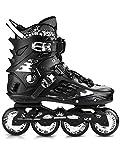 JZX Skates, Adult Roller Skates, Skates,Black,35