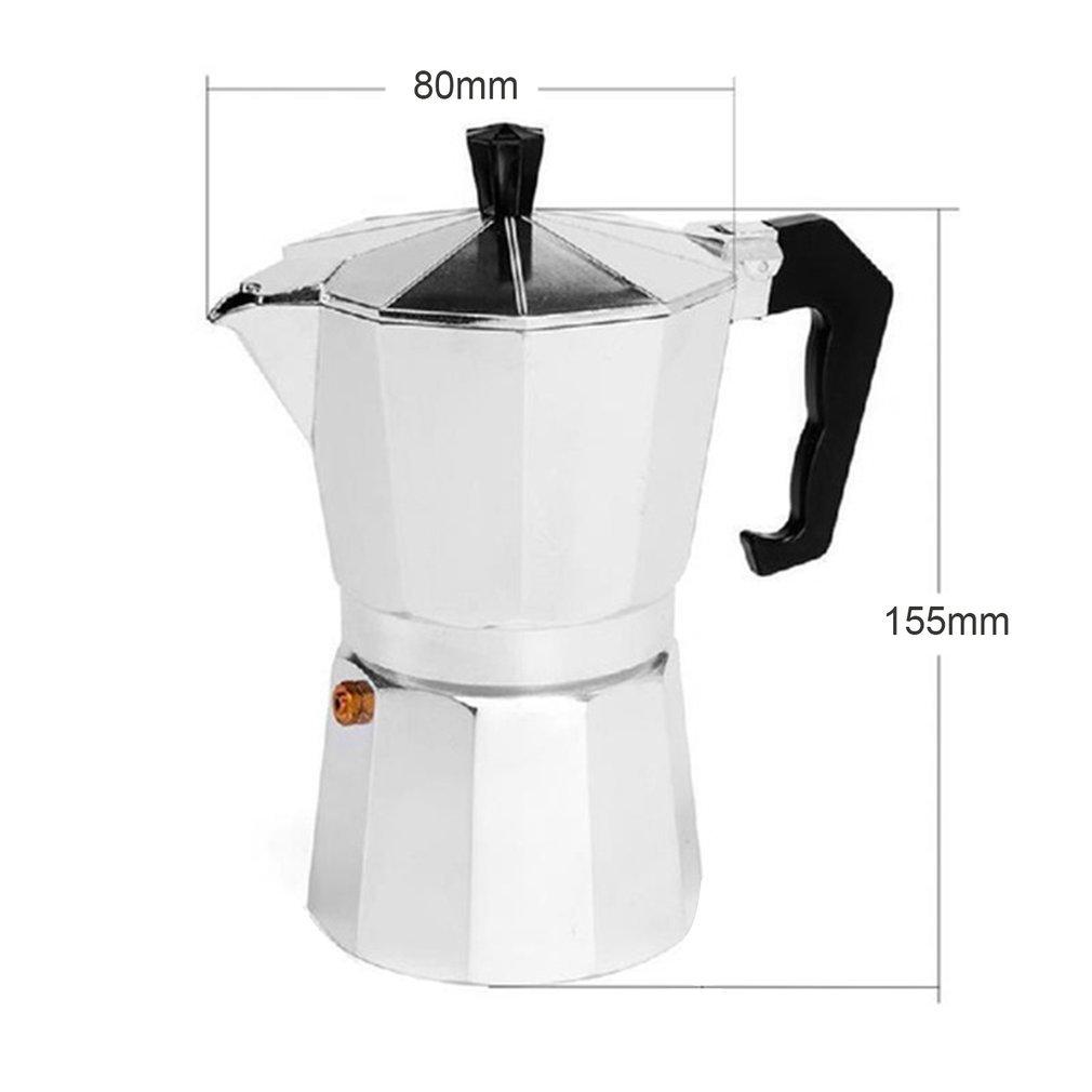 leoboone Aluminum 8-Angle Moka Pot Espresso Stove Top Coffee Maker Moka Espresso Cup Continental Moka Percolator Pot 3cup//6cup,silvery