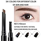 vegetable dye for eyebrows - AFY Long lasting and Waterproof Professional Makeup Auto Eyebrow Pencil (No.5 Brown)