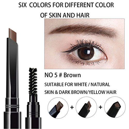 AFY Long lasting and Waterproof Professional Makeup Auto Eyebrow Pencil (No.5 Deep Brown)