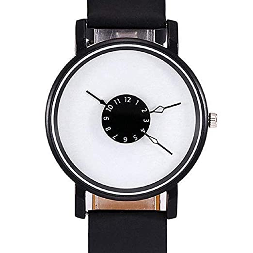 Scpink Relojes de Cuarzo para Mujer, Reloj analógico Hallow Pointer único Digital Relojes para Mujer Relojes para Mujer Relojes de Pulsera de Cuero para ...