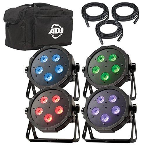 NEW! AMERICAN DJ Mega Flat TRI Pak Plus RGB + UV LED Mega Tripar Profile System by AMERICAN DJ
