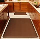 WellnessMats Anti-Fatigue Kitchen Floor Mat Original 5 x 4 ft. - Brown