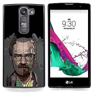 """Meth Cocine"""" - Metal de aluminio y de plástico duro Caja del teléfono - Negro - LG Magna / G4C / H525N H522Y H520N H502F H500F (G4 MINI,NOT FOR LG G4)"""