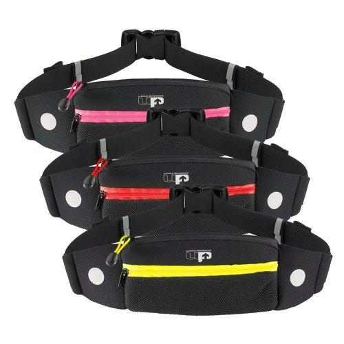 Ultimate Performance Titan Hüfttasche - Komfort Gürteltasche für den Laufsport Schwarz/Gelb