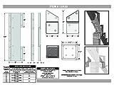 Pylex 13920 Steel Stair Riser Connector, Black