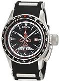 Invicta Men's 1753 Aviator Flight GMT Black Dial Black Polyurethane Watch, Watch Central
