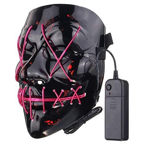 KNOSSOS Fun LED Allume Le Masque Flash Halloween Party Night Club Masque de Festival Masque DJ