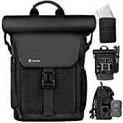 TARION Camera Backpack Rolltop Photography Backpack with Removable Laptop Case 2 in 1 Large Capacity Camera Bag with…