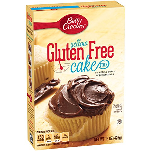 Betty Crocker Gluten Free Cake Mix, Yellow, 15 oz Box