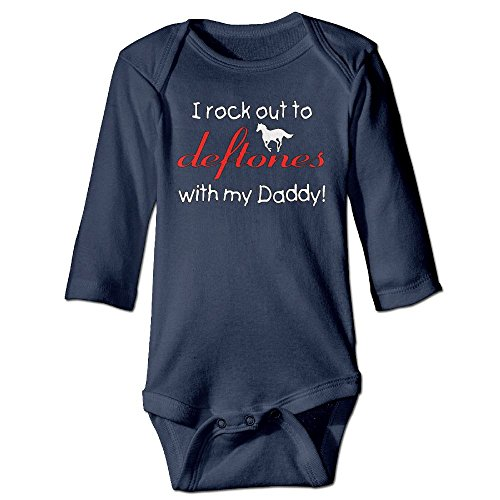 I Rock Out To Deftones Baby Unisex Baby 100% Cotton Long Sleeve Romper Clothes Outfits