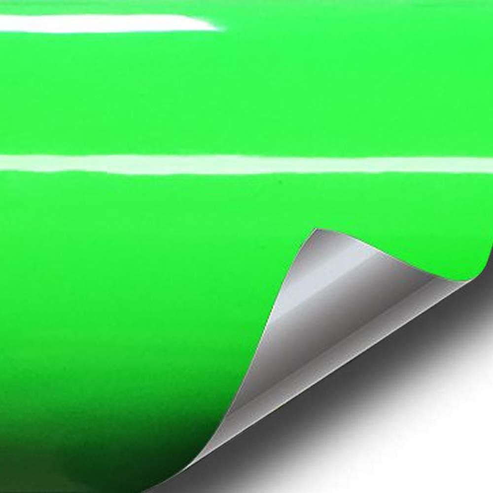 VViViD Hi-Liter Fluorescent Green Gloss Vinyl Wrap 6 inches x 60 inches
