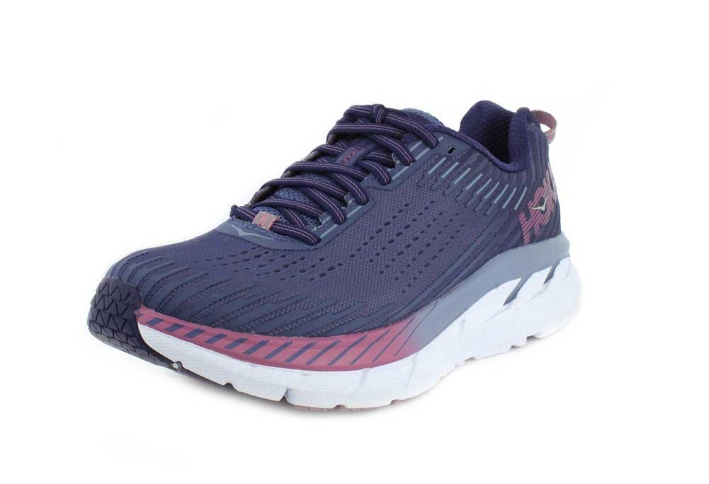 HOKA ONE ONE Women's Clifton 5 Running Shoe B0788TKNLJ 6.5 B(M) US|Marlin/Blue Ribon