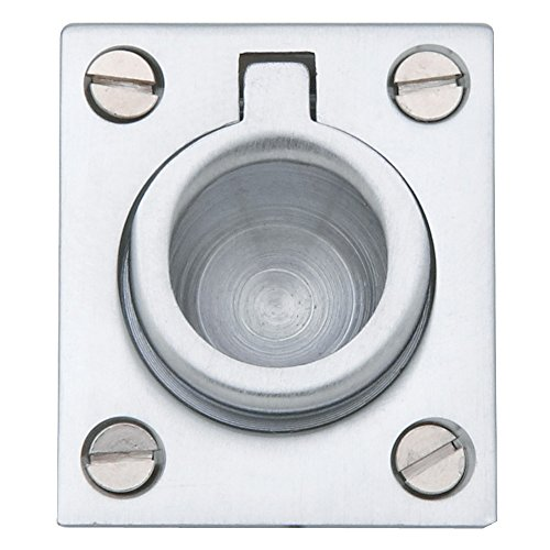 Baldwin Estate 0392.264 Solid Flush Ring Pull in Satin Chrome, 1.25