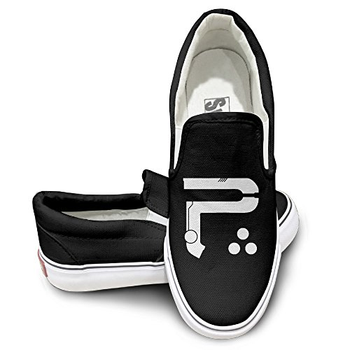 HYRONE Periphery P Logo Unisex Footwall Canvas Shoes Sun Black