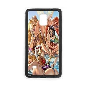 Samsung Galaxy Note 4 Cases Alice in Wonderland Fairy Protector For Girls, Samsung Galaxy Note4 Case Yearinspace, [Black]