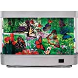 Motion Moving Butterfly Flower Rotating Accent Lamp Light
