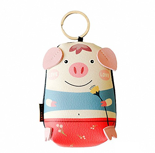 Women Little Boys Girls Coin Purses--Cartoon Pig Zoo Animals Cute Coin Purses Wallet Money Bags Change Key Bag