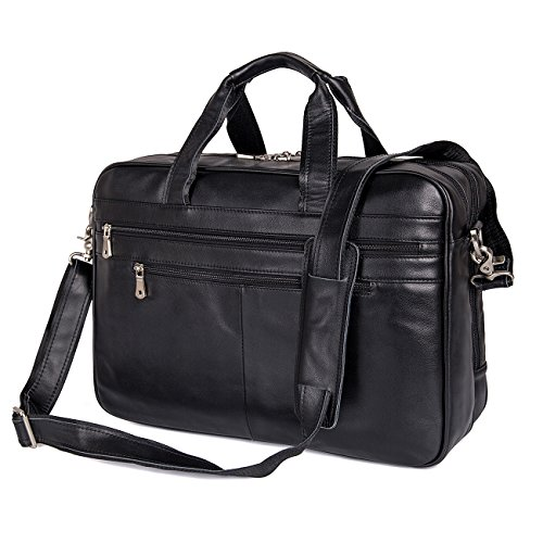 726b5f9a7d70 Augus Business Travel Brifecase Genuine Leather Duffel Bags for Men ...