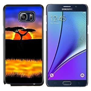 Queen Pattern - FOR Samsung Note 5 N9200 N920 - The African Safari Sunset - Cubierta del caso de impacto con el patr???¡¯???€????€?????n Ar