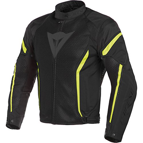 (Dainese Air Crono 2 Textile Jacket (54) (Black/Black/Fluorescent Yellow))