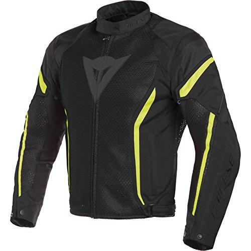 Dainese Air Crono 2 Textile Jacket (54) (Black/Black/Fluorescent Yellow)