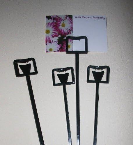 u choose quantity! extra long florist message card holders cardette cardettes