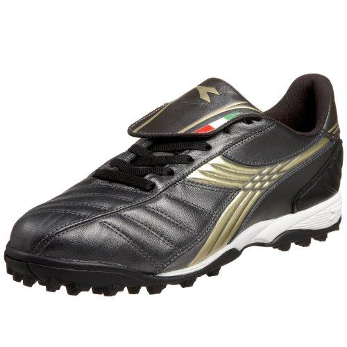 Diadora Men's LX LT Turf Soccer Shoe,Black/Gold,6.5 M (Diadora Soccer Cleats Turf)