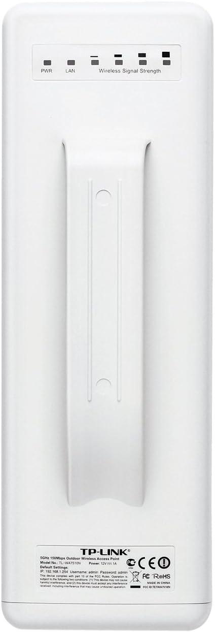 TP-LINK TL-WA7510N - Punto de Acceso inalámbrico 5 GHz Exterior (Protección contra Rayos de 4000V y ESD de 15KV)