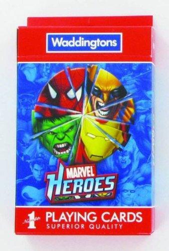 Amazon.com: Waddington Marvel Heroes jugando a las cartas ...