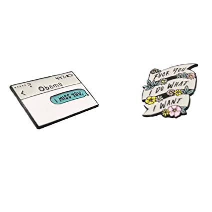 532e1347ee94 Amazon.com: Enamel Pins for Backpacks, Funny Lapel Brooch Pin for ...