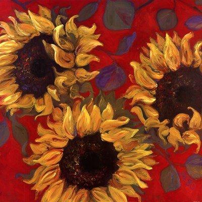 (Sunflower I by Shari White - 24x24 Inches - Art Print Poster )