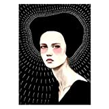dayanzai Labyrinth Illusion Annual Ring Woman Abstract Art Canvas Decorative Painting Print Poster Picture Wall Home Decoration 50X70Cm No Frame