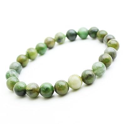 Bracelet Jade en pierre semi-précieuse perles de 8 mm. Pierre PORTE BONHEUR ba2289653164
