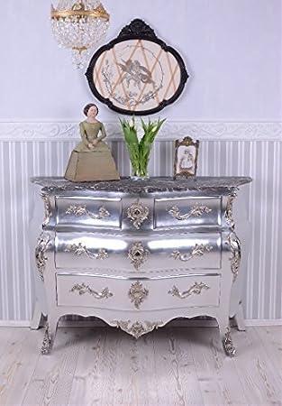 Kommode Antik Stil Barock Schrank Silber Rokoko Kommode Palazzo