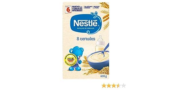 Nestlé Papilla 8 cereales, Alimento Para bebés - 600 gr: Amazon.es ...