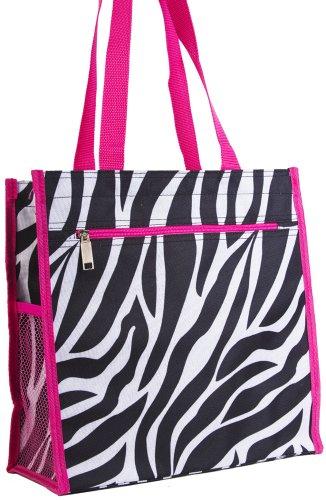 - J Garden Zebra Print Tote Bag