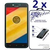 [2-Pack] Moto C 2017 Screen Protector ,Nacodex Tempered Glass Screen Protector For Moto C 2017,Screen Protection Case Fit 99% Touch Accurate (For Moto C 2017)