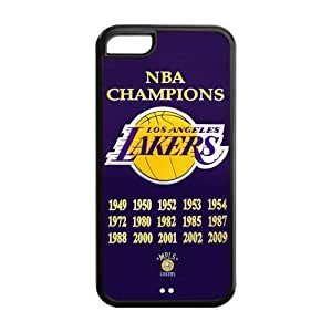 XiFu*MeiCutomize Los Angeles Lakers Scratch-Resistant Case Soft TPU Skin for iphone 6 plua 5.5 inch Cover - Black/WhiteXiFu*Mei