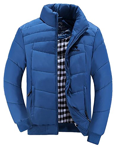 Sale Color Padded Solid Coat UK Stand Jacket Outerwear Hot 3 Collar Men OdUOwq